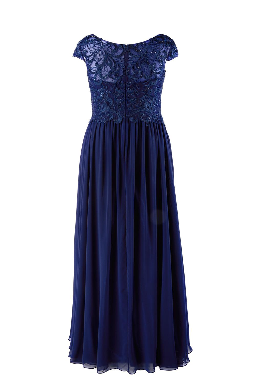 Designer Perfekt Abendkleid Dunkelblau für 2019 Elegant Abendkleid Dunkelblau Bester Preis