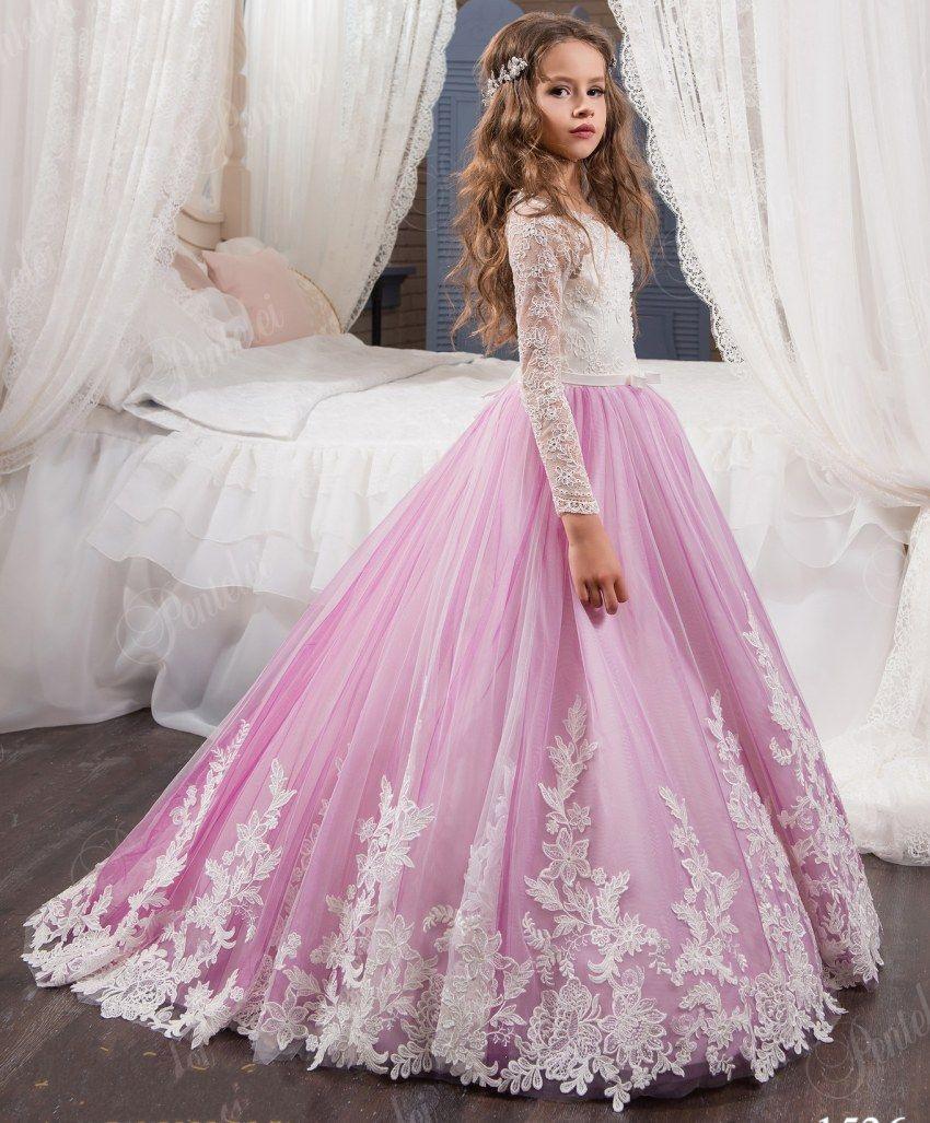 Designer Elegant Abendkleid Kinder ÄrmelAbend Schön Abendkleid Kinder Stylish
