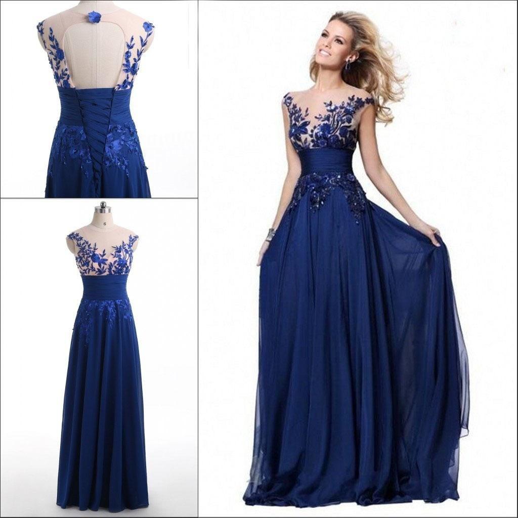 Designer Einfach Langes Blaues Kleid DesignAbend Perfekt Langes Blaues Kleid Design