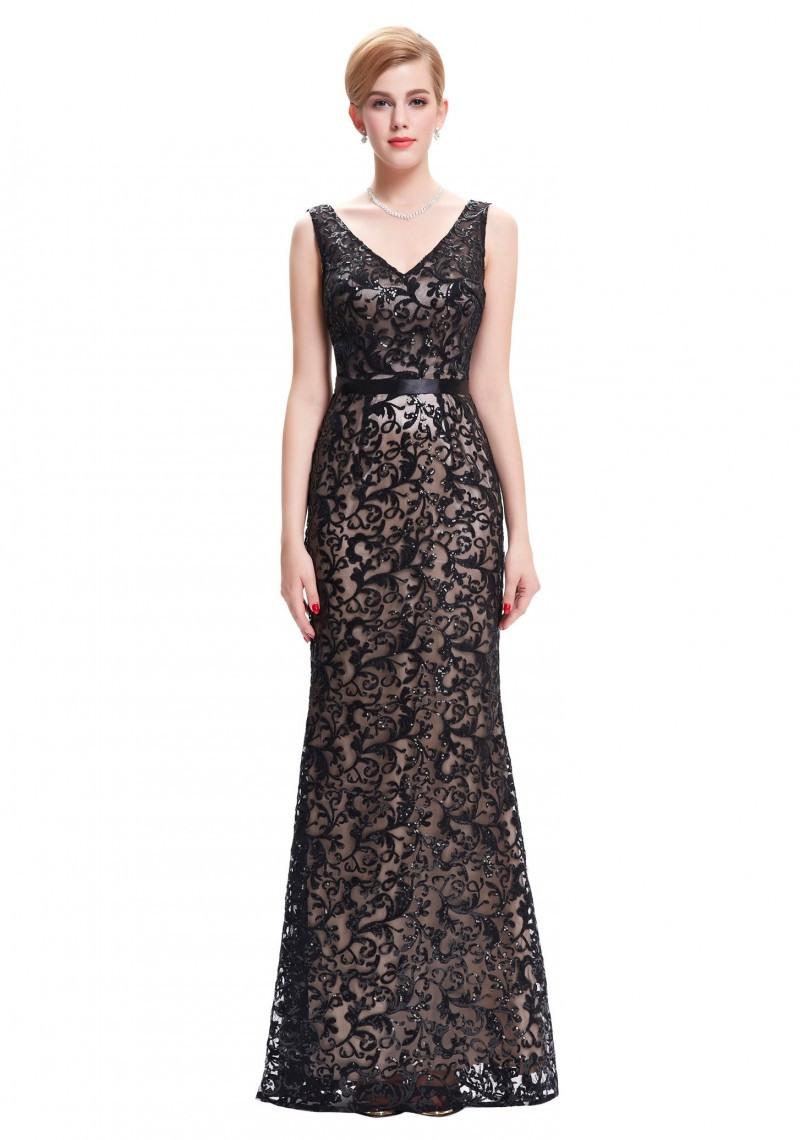 Schön Schwarzes Bodenlanges Kleid Bester PreisAbend Coolste Schwarzes Bodenlanges Kleid Galerie
