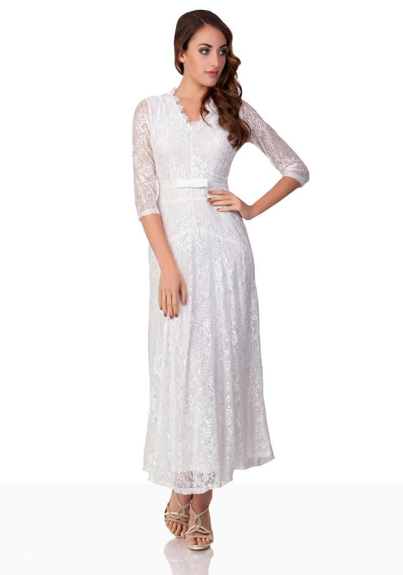 Abend Luxus Abendkleid Weiß Spitze Galerie Genial Abendkleid Weiß Spitze Ärmel