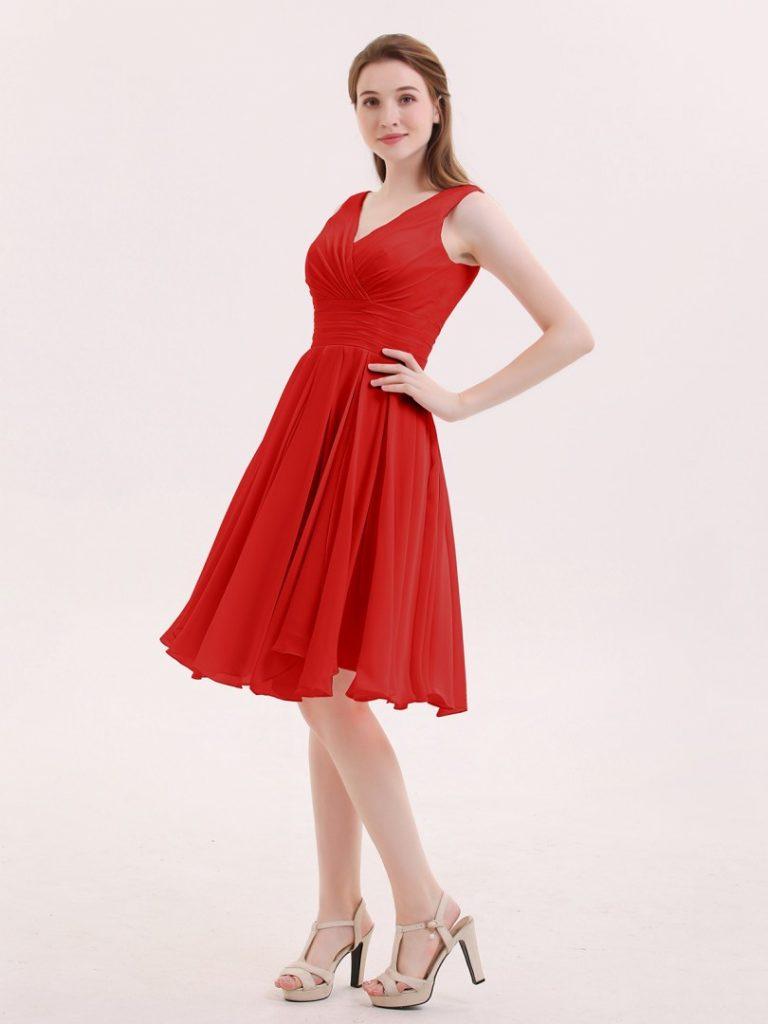 Designer Luxus Kleid Rot Kurz Spezialgebiet - Abendkleid