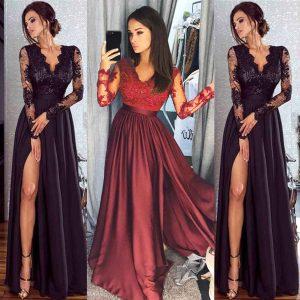 Ausgezeichnet Abend Kleid Lang ÄrmelDesigner Luxurius Abend Kleid Lang Spezialgebiet