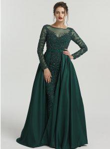 Ausgezeichnet Abend Kleid Langarm Spezialgebiet17 Schön Abend Kleid Langarm Boutique