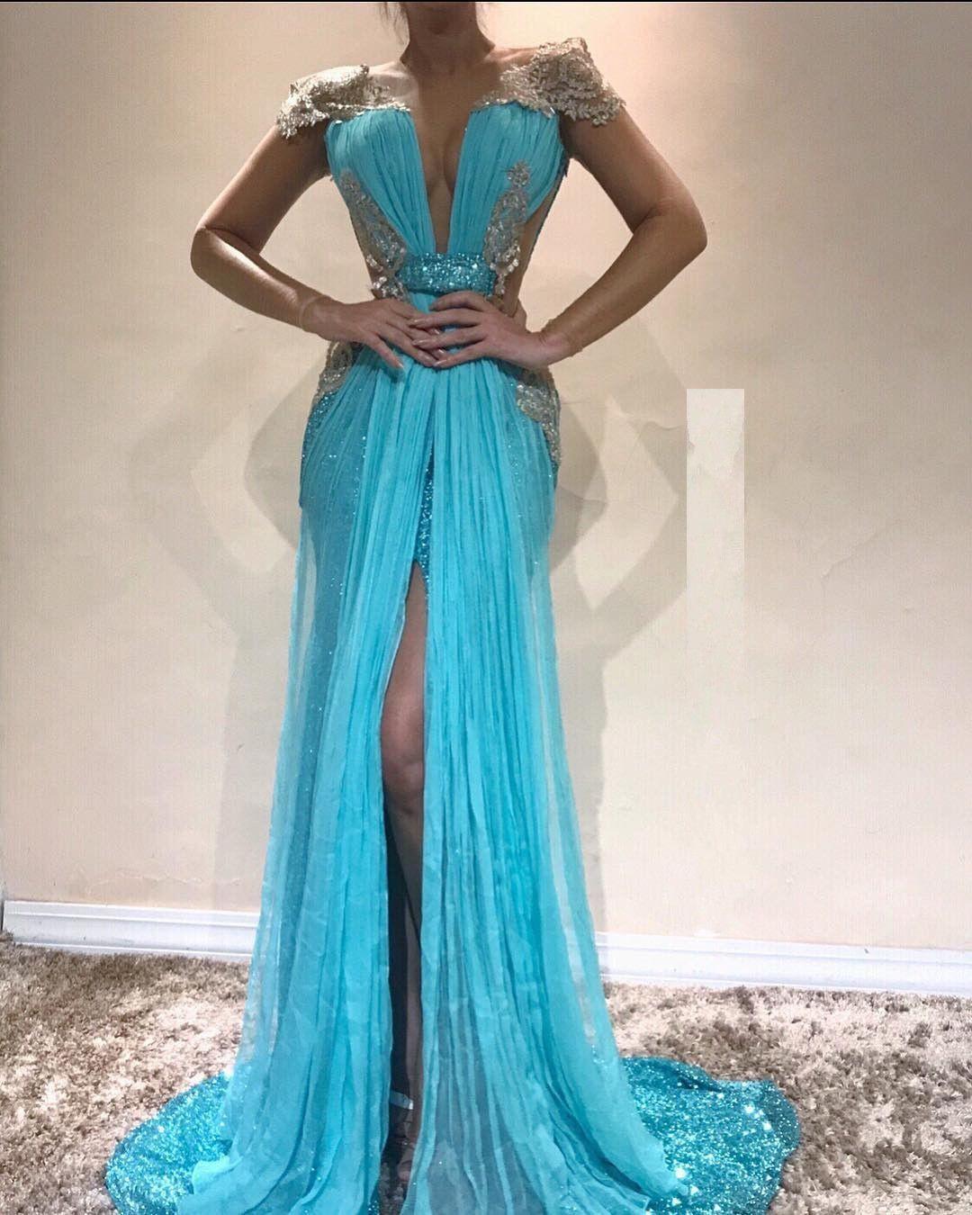 Formal Einfach Blaues Abendkleid Ärmel20 Genial Blaues Abendkleid Design