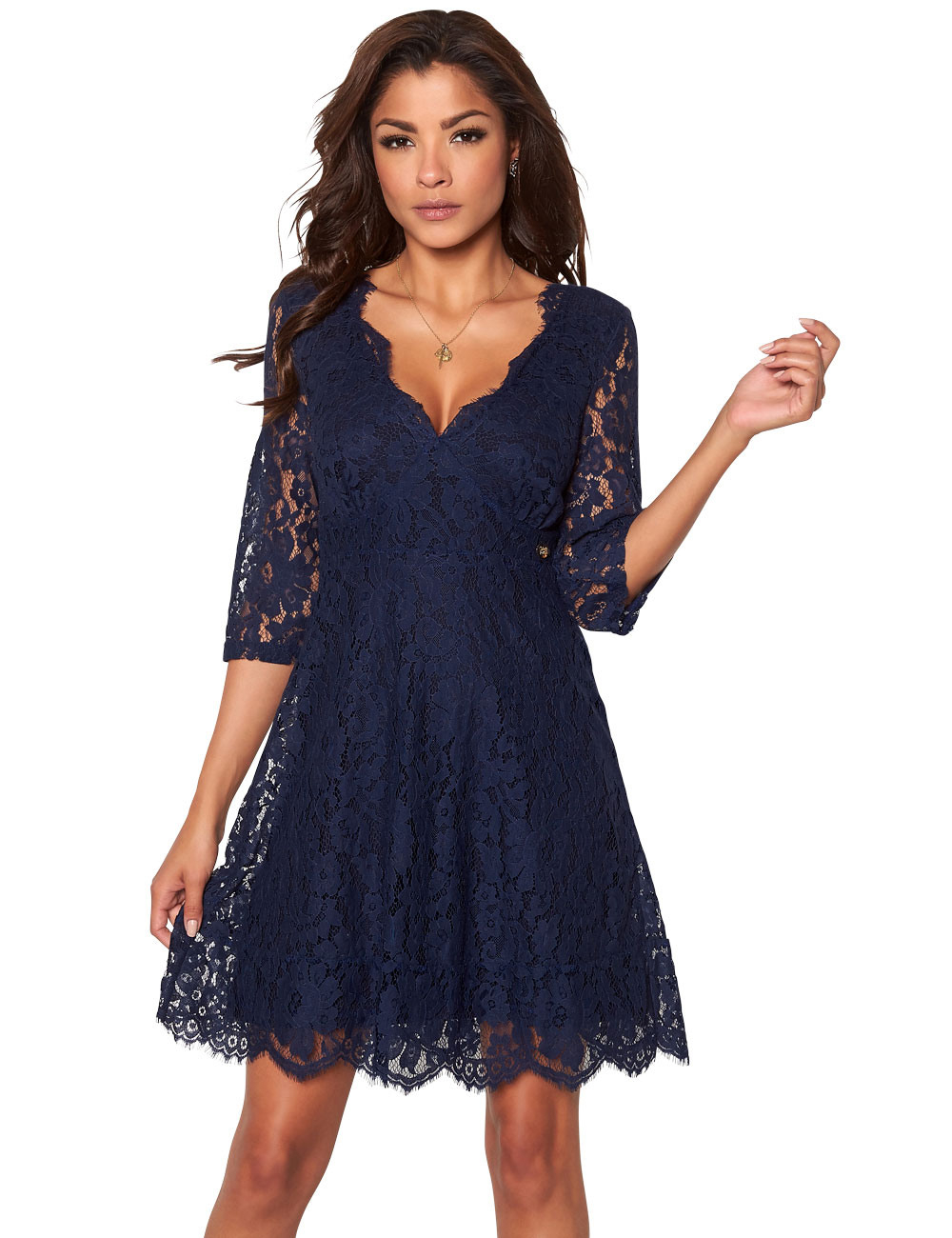 Großartig Kleid Mit Spitzenärmeln Spezialgebiet Genial Kleid Mit Spitzenärmeln Vertrieb