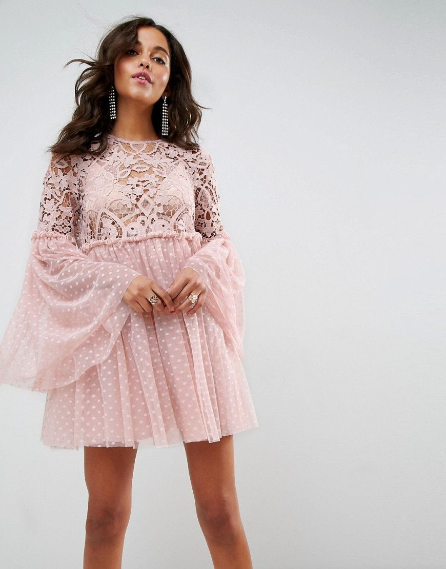 Abend Wunderbar Rosa Kleid Mit Ärmeln Vertrieb13 Genial Rosa Kleid Mit Ärmeln Design