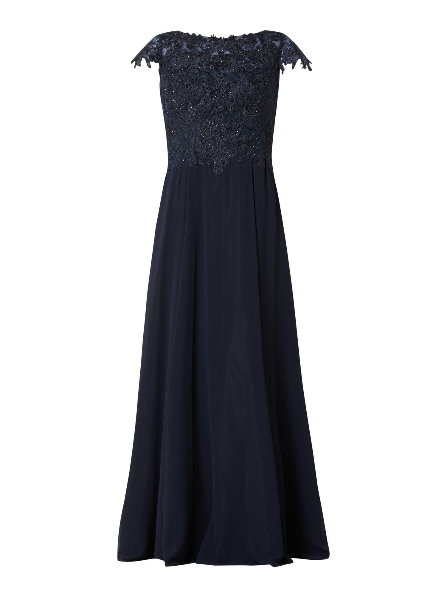 10 Leicht Vera Mont Abendkleid Blau BoutiqueAbend Wunderbar Vera Mont Abendkleid Blau Design