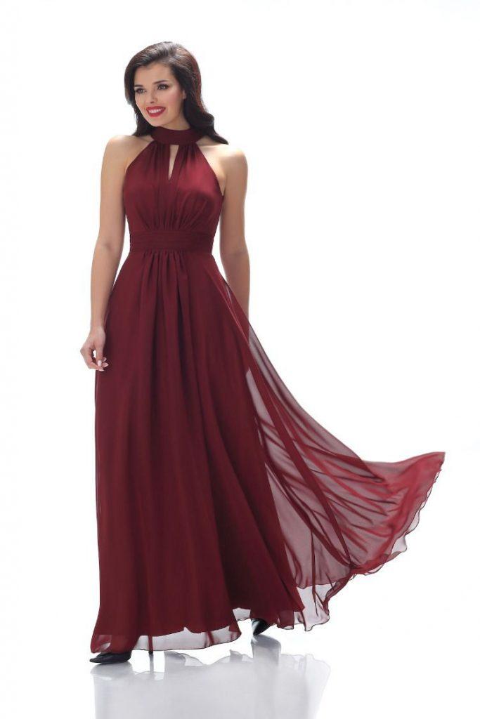 Designer Wunderbar Abendkleid Bordeaux Rot Boutique