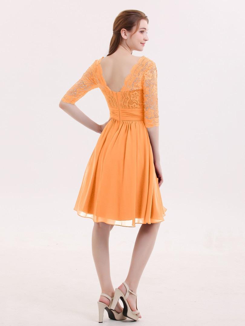 17 Schön Kleid Orange Kurz DesignAbend Einzigartig Kleid Orange Kurz Galerie