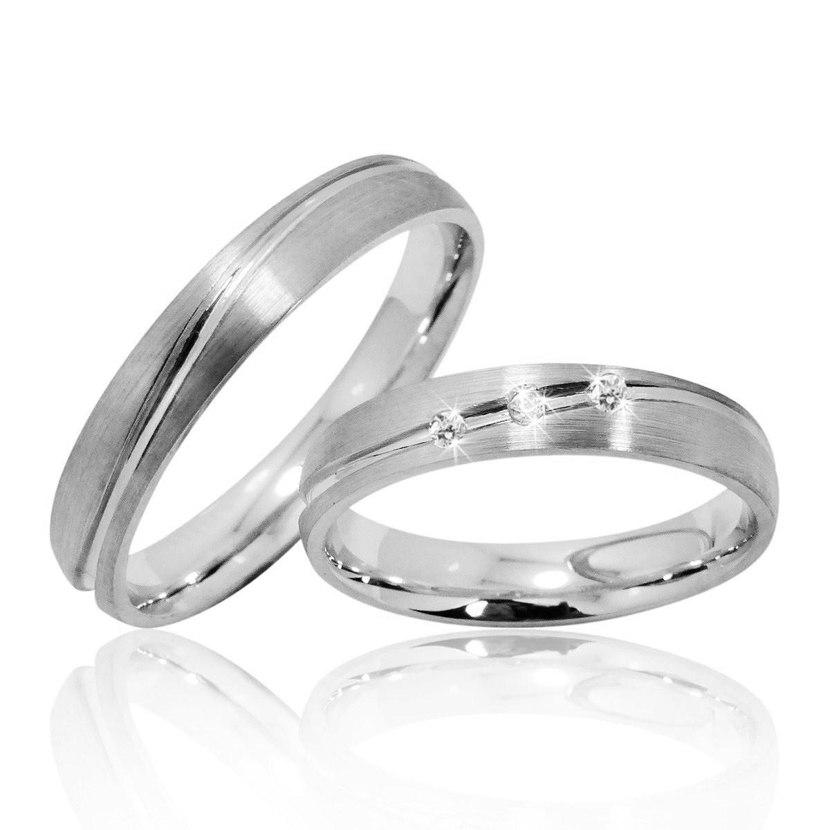 Details Zu 2 Trauringe Silber 925 Mit Gravur+Etui Eheringe Verlobungsringe  Ringe Pr16-3T