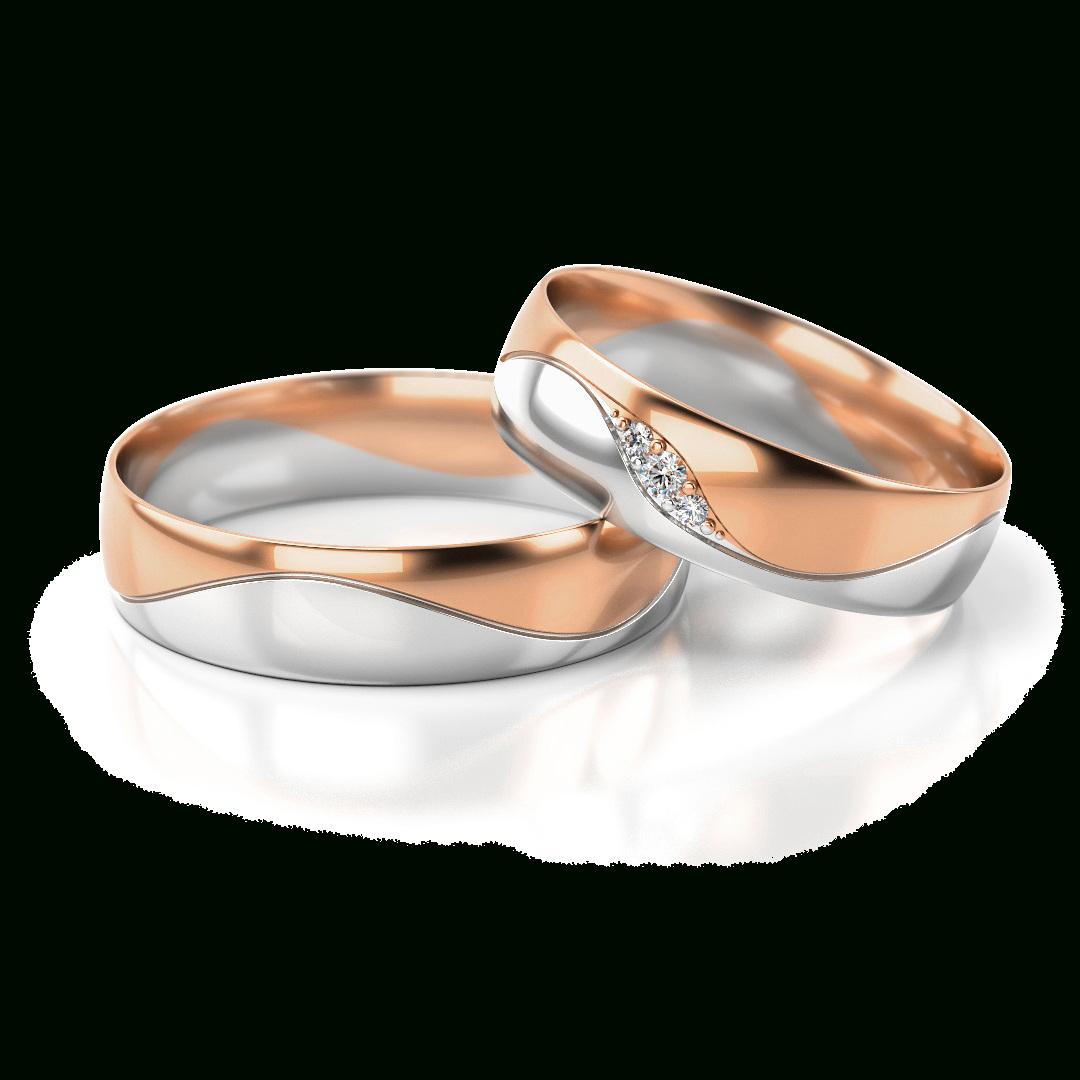 Details Zu Ein Paar Trauringe Gold 585 Eheringe Rotgold Weißgold  Verlobungsringe M.steine