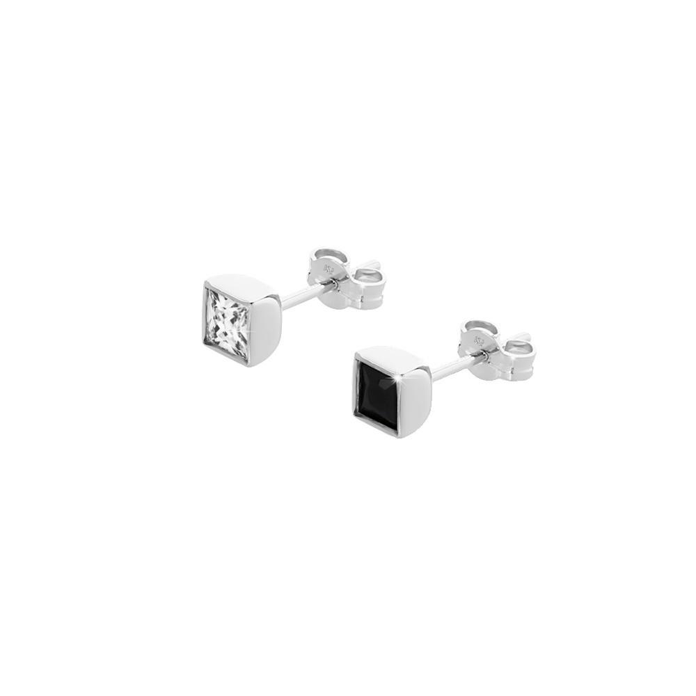 Details Zu Einzelne Ohrstecker Mit Quadrat Cubic Zirkonia 5Mm Damen Herren  Männer Ohrring