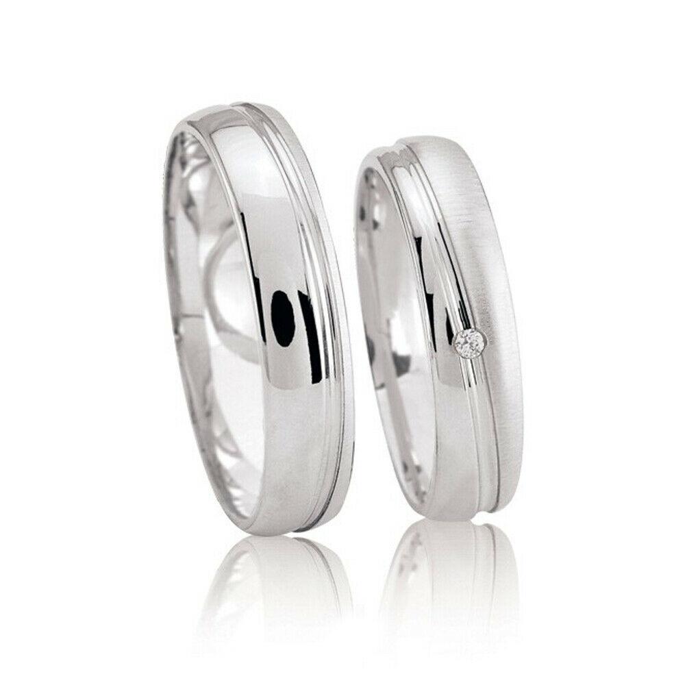 Details Zu Silber Trauringe 925 Sterling Eheringe 1590 (Paarpreis) 2 Ringe  ++ Neu ++ Gravur