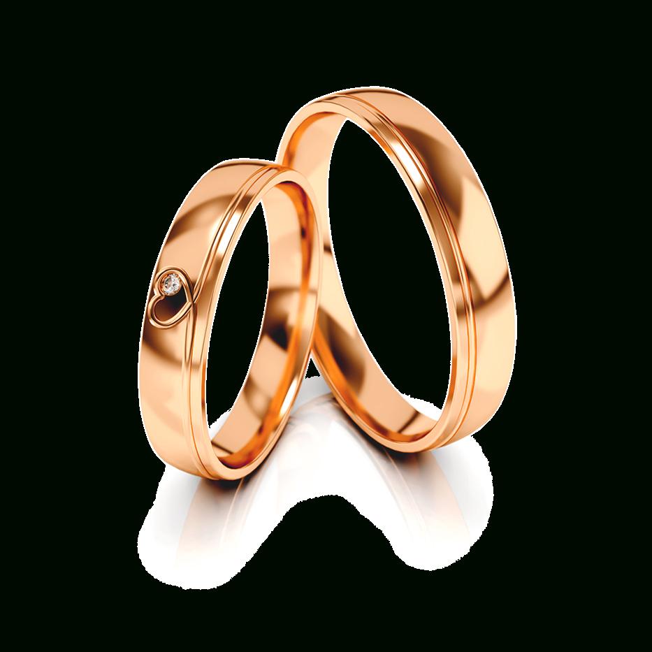 Details Zu Trauringe Eheringe Hochzeitsringe Gold 333 Poliert Rotgold Herz  Zirkonia