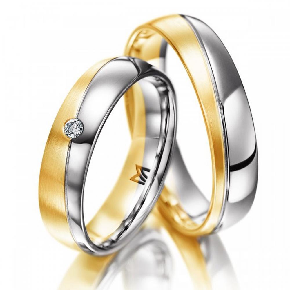 Ehering Meister Bicolor Brilliant | Juwelier Binder