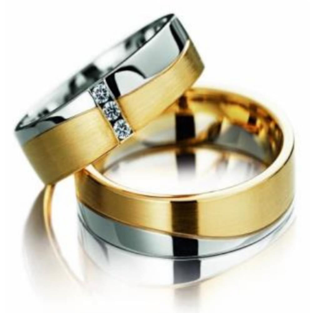 Eheringe Partnerringe Trauringe Verlobungsringe Freundschaftsringe Aus  Titan Mit Zirkonia / Laser Gravur Gratis, Damenring:58 (18.5),  Herrenring:64