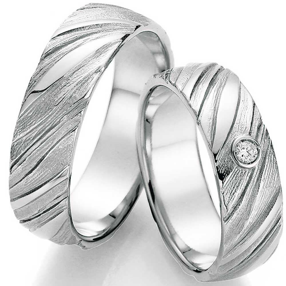 Eheringe Silber Mit Struktur