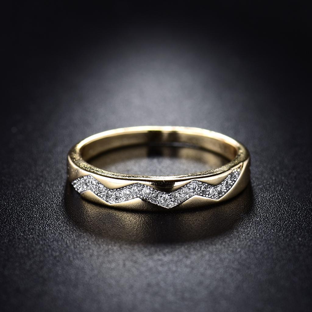 Einfache Art Und Weise Frauen Rund Geschnittene Ehering Jubiläumsgeschenk