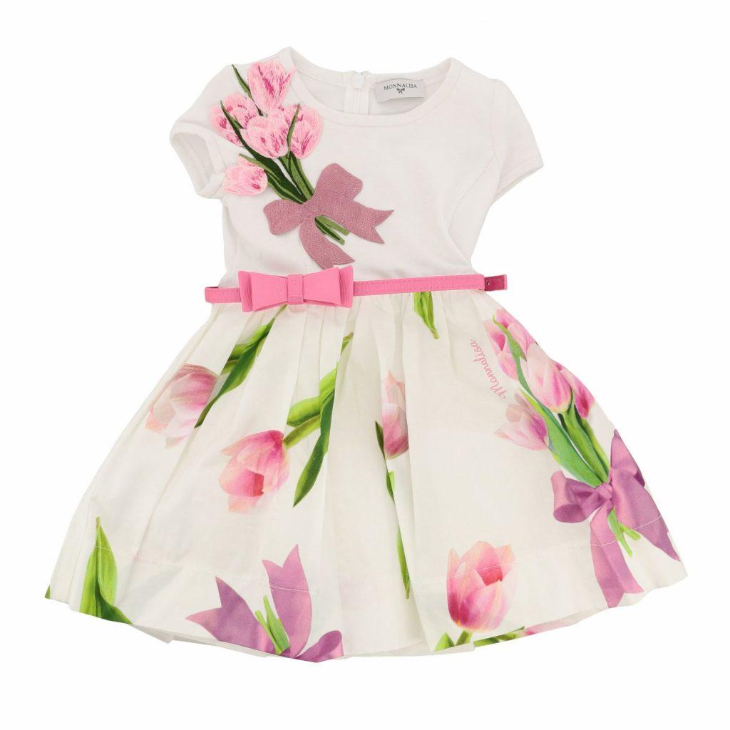 Einzigartig Kleid Weiß Blumen Boutique - Abendkleid