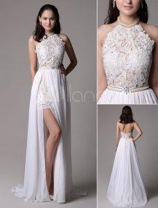 Designer Einfach Kleid Weiß Elegant VertriebFormal Luxus Kleid Weiß Elegant Stylish
