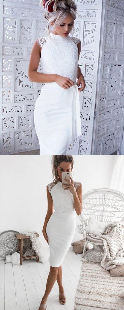Fantastisch Kurze Weisse Kleider Fur 2019 Abendkleid