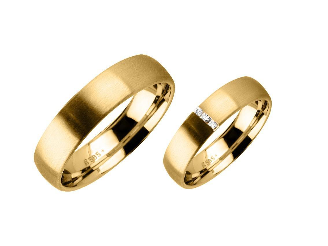 Fischer Trauring Ehering Freundschaftsring Set Apricotgold Diamond Uvp  1.299,-€ Neu