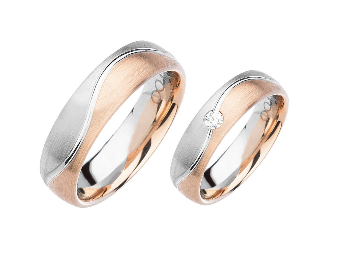 Fischer Trauring Ehering Verlobungsring Freundschaftring Set 950 Platin  Roségold Diamant Uvp 2.339,-€ Neu