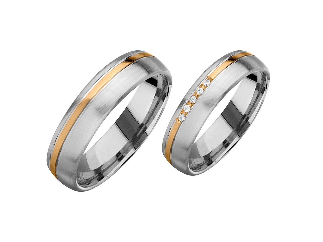 Fischer Trauring Ehering Verlobungsring Freundschaftring Set Weißgold  Aprikotgold Diamanten Uvp 1.829,-€ Neu