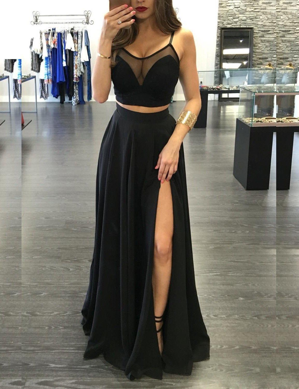 Formal Luxus Zweiteiler Abendkleid BoutiqueDesigner Einfach Zweiteiler Abendkleid Spezialgebiet