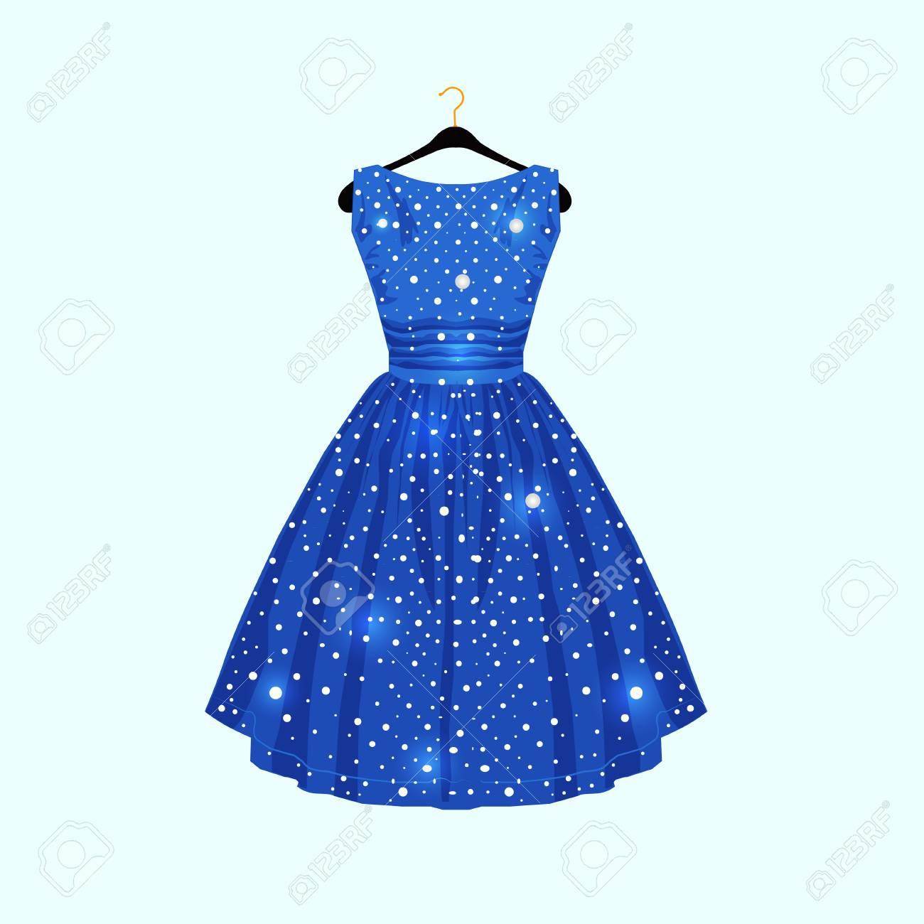 Formal Einfach Blaues Kleid Mit Punkten Galerie13 Elegant Blaues Kleid Mit Punkten Bester Preis