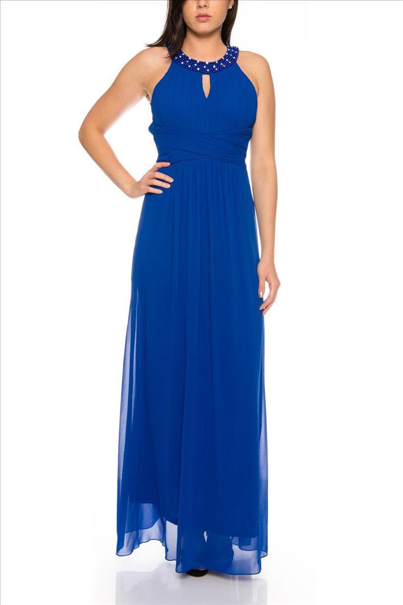 Formal Elegant Abendkleid Royalblau Ärmel - Abendkleid