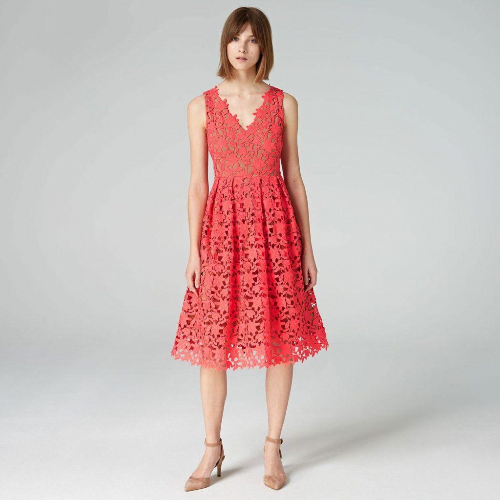 Formal Erstaunlich Kleid Koralle Spitze Design - Abendkleid