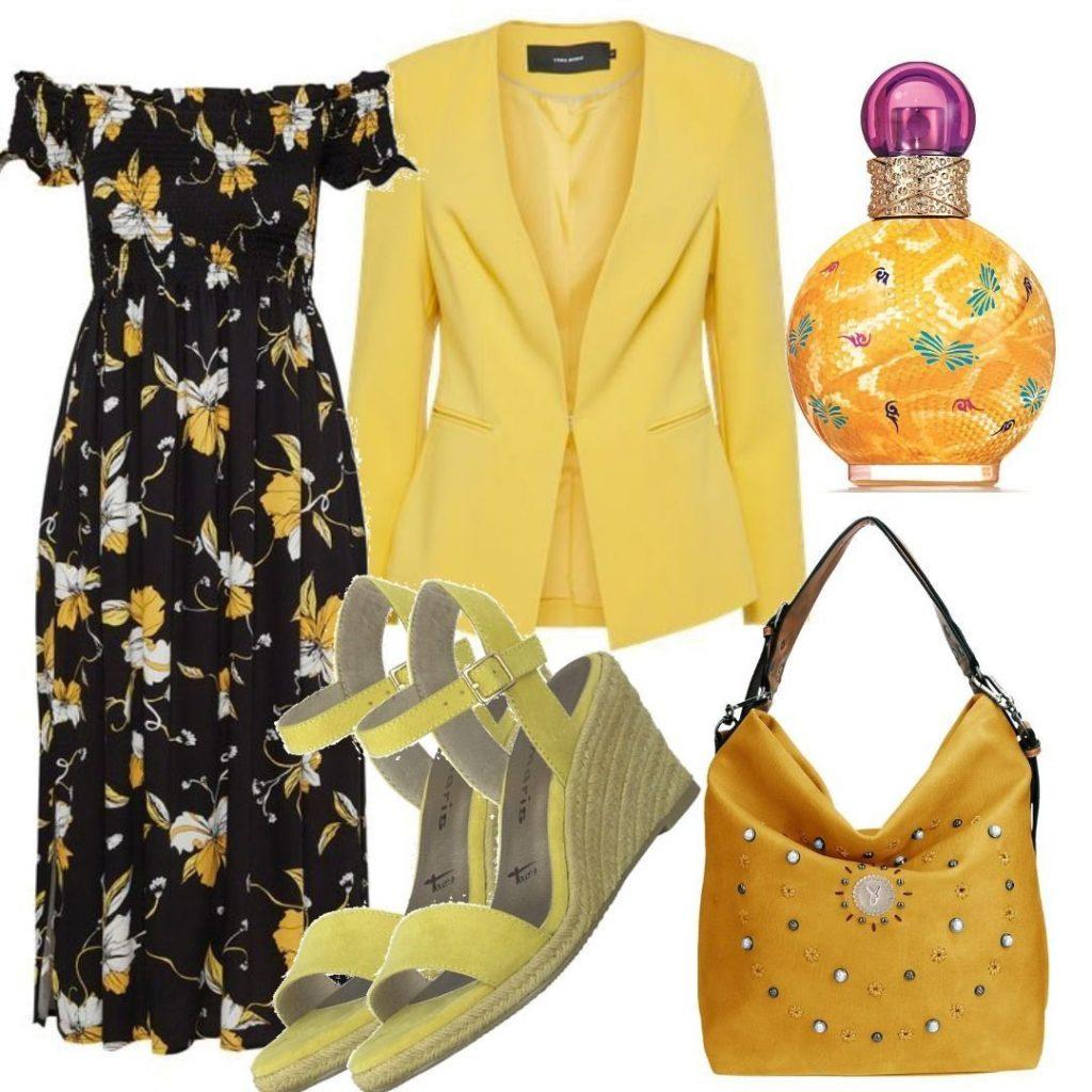 Formal Fantastisch Kleid Gelb Schwarz Stylish - Abendkleid