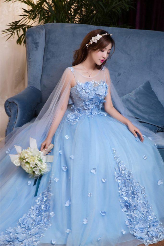 Formal Fantastisch Kleid Hellblau Lang Bester Preis ...