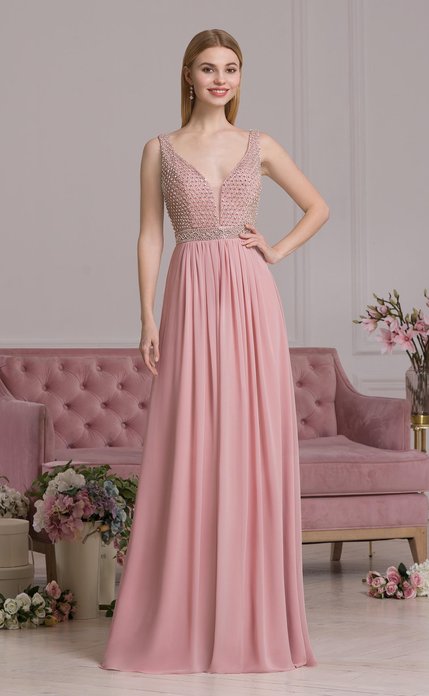 Schön Altrosa Abendkleid für 2019 Cool Altrosa Abendkleid für 2019