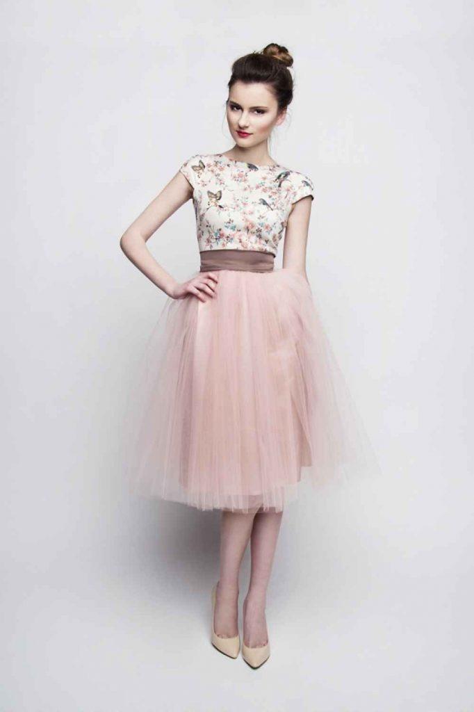 Formal Genial Rosa Kleid Langarm Vertrieb - Abendkleid