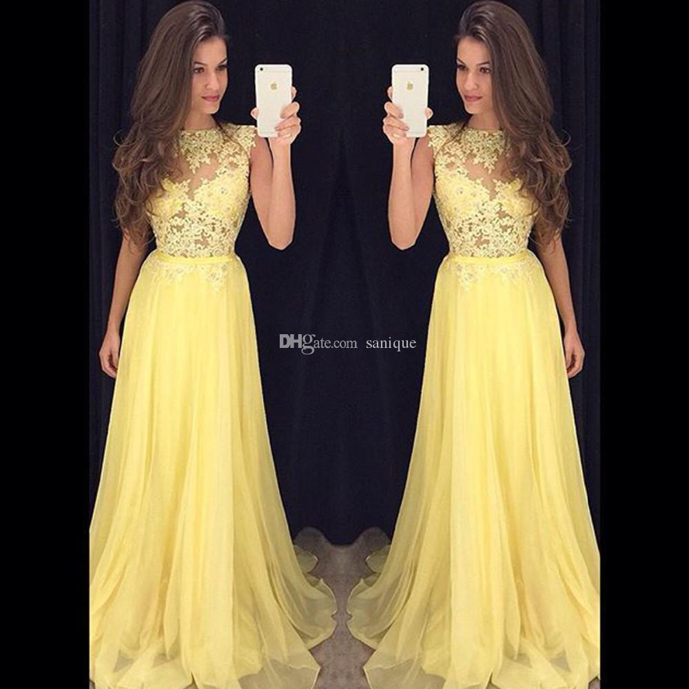 Abend Luxus Gelb Abendkleid ÄrmelAbend Wunderbar Gelb Abendkleid Stylish