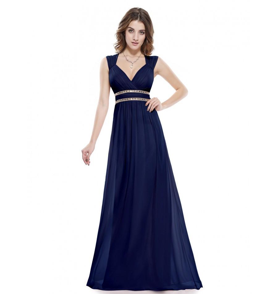 Designer Fantastisch Abendkleid Nachtblau Lang Spezialgebiet