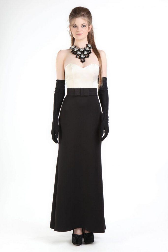Genial Abendkleider Lang Schwarz Weiß Ärmel - Abendkleid