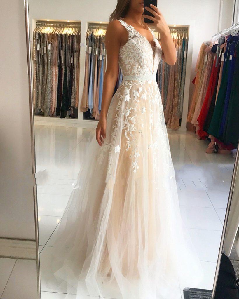 Genial Weißes Abendkleid Lang Bester Preis - Abendkleid