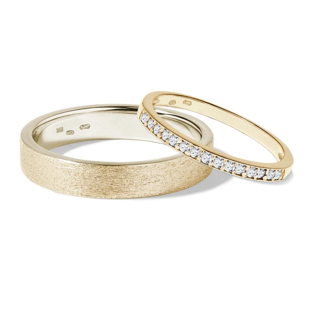 Goldene Eheringe Mit Diamanten   Klenota
