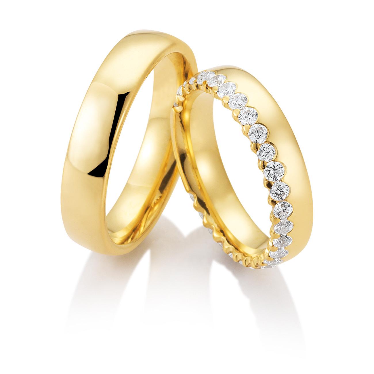 Goldringe Damen » Für Ihre Perfekten Verlobungs- Und Eheringe!