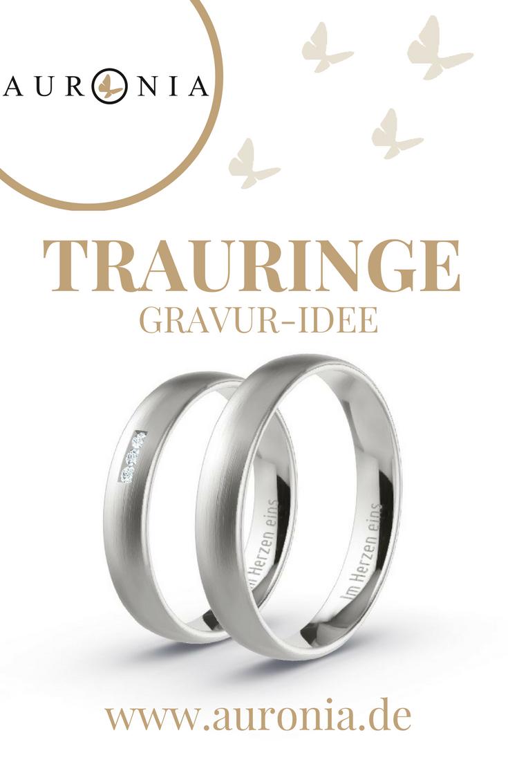 """Gravur-Idee Für Die Eheringe Eurer Hochzeit. Spruch: """"im"""