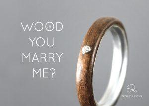 Handgefertigte Verlobungsringe Aus Holz Online Kaufen