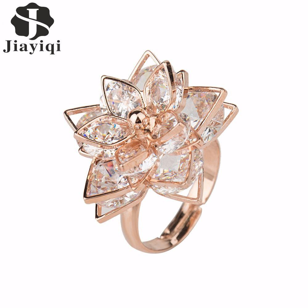 Jiayiqi Новый Бренд Цвета Розового Золота Кольца Для Модные