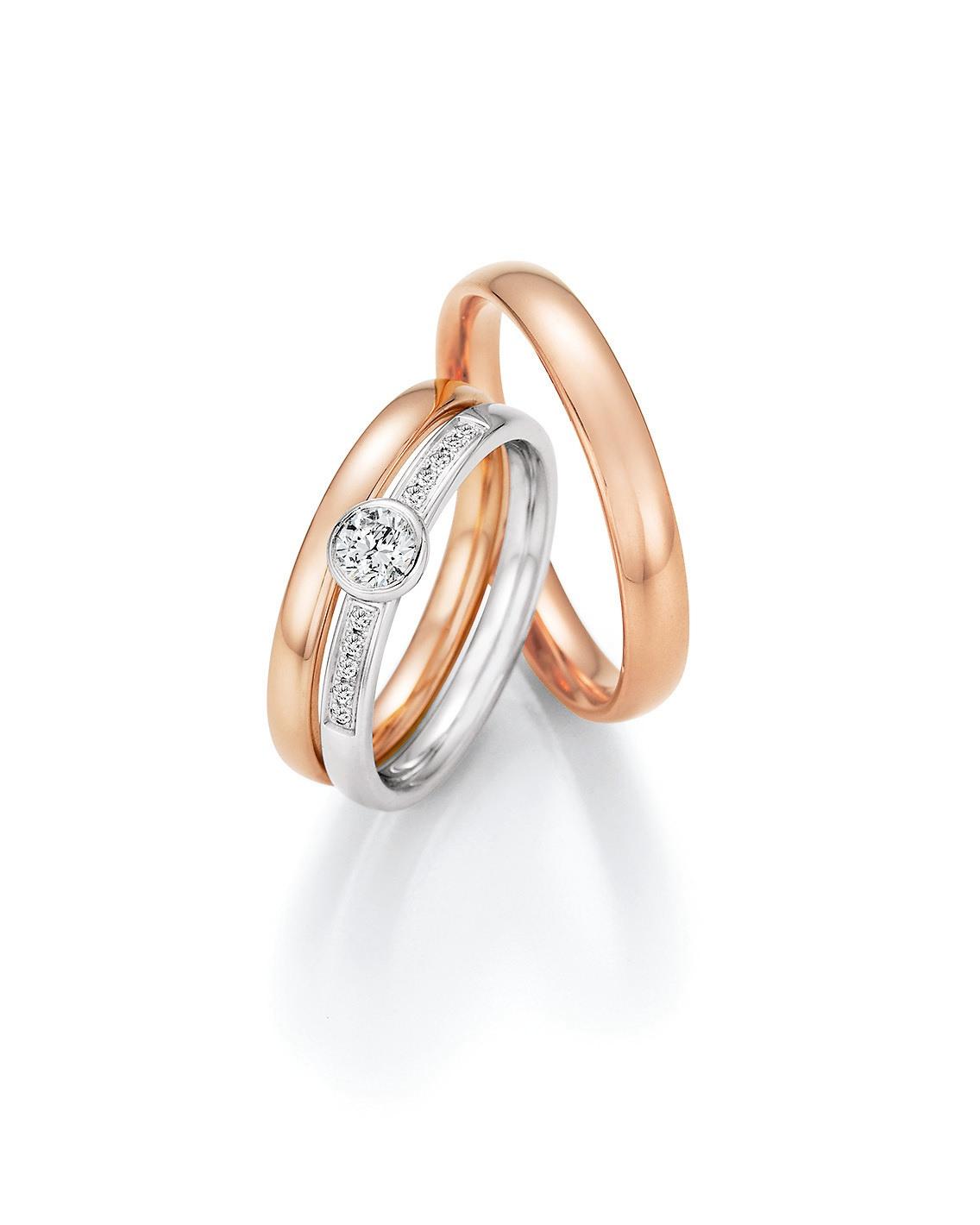 Jmonds Perfect Match Set Eheringe + Verlobungsring