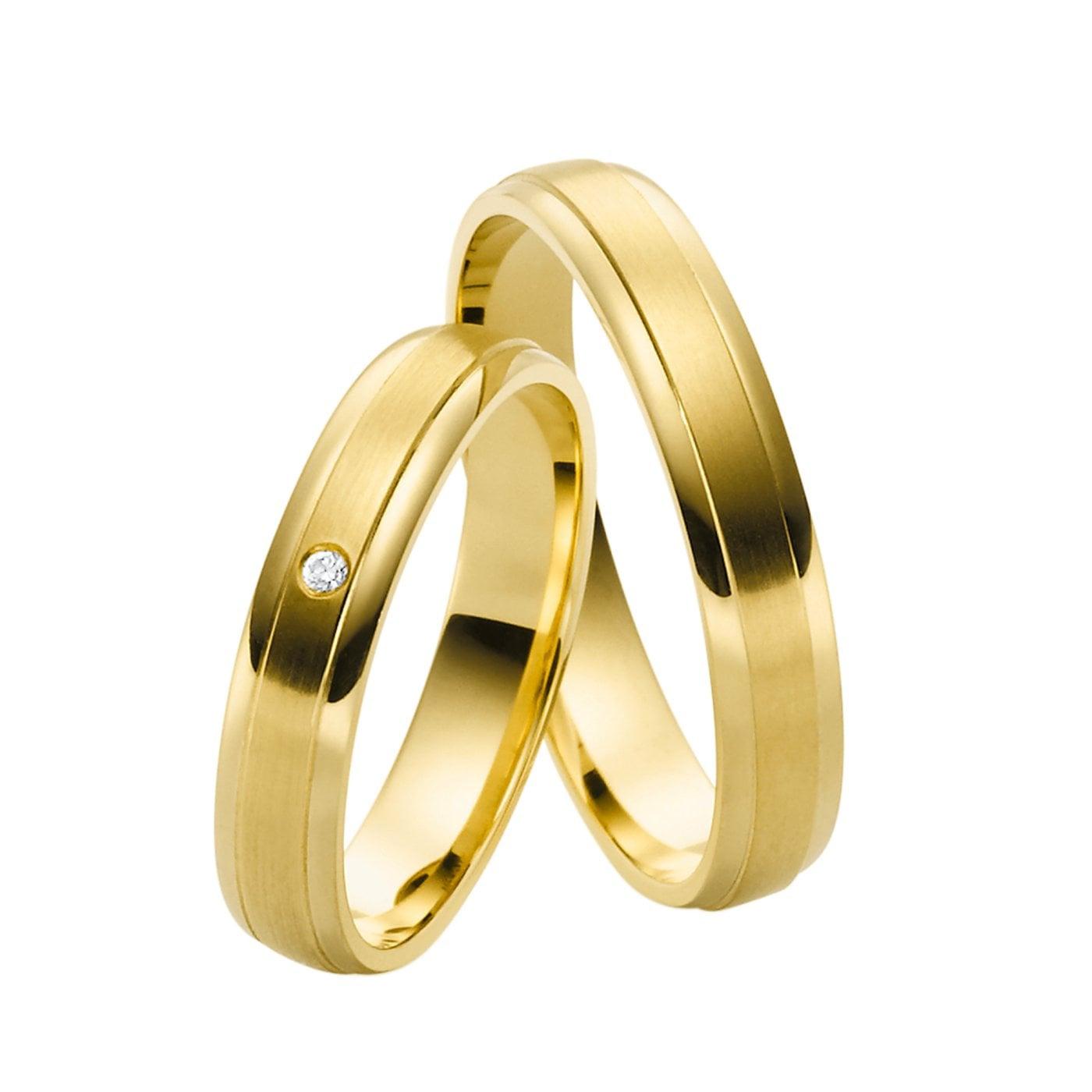 Juwelier Kraemer Trauring Diamant 585/ - Gold – Ca. 0,01 Ct
