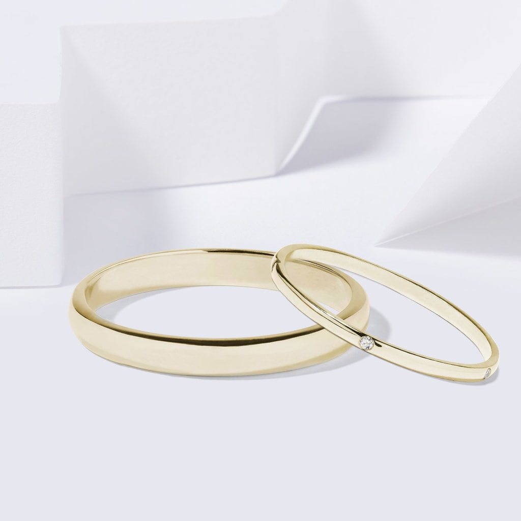 Klenota | Goldene Trauringe Mit Diamanten | Trauringe