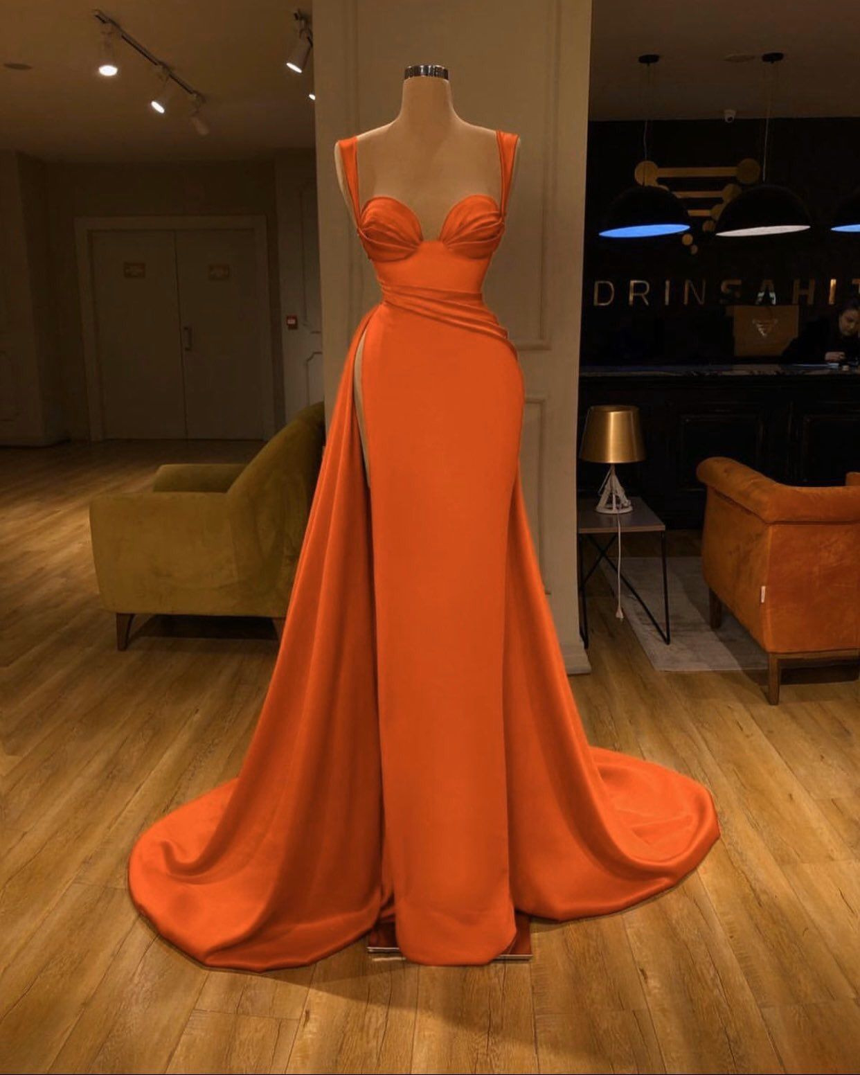 Abend Perfekt Abendkleid Orange BoutiqueDesigner Schön Abendkleid Orange Galerie